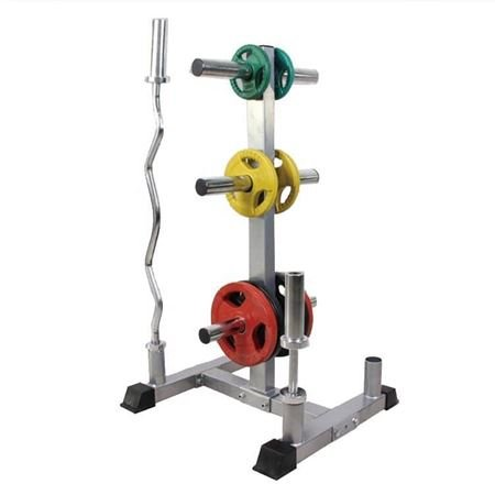 Olympic Bumper Plate and Bar Holder for Sale